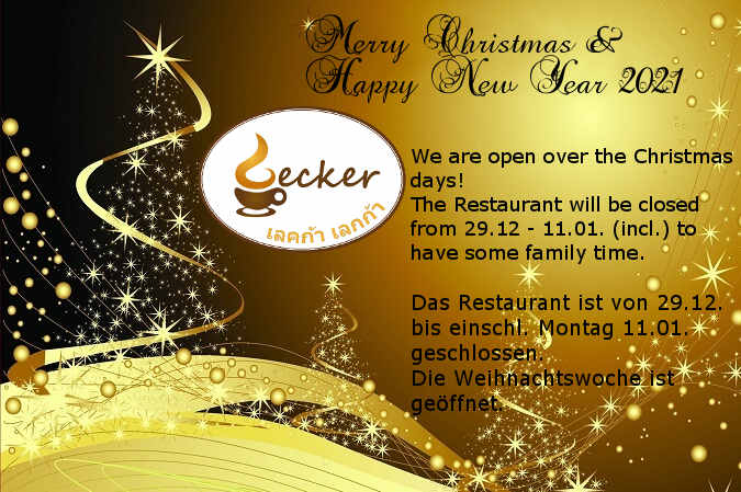 Lecker Lecker Restaurant Christmas and New Year 2021